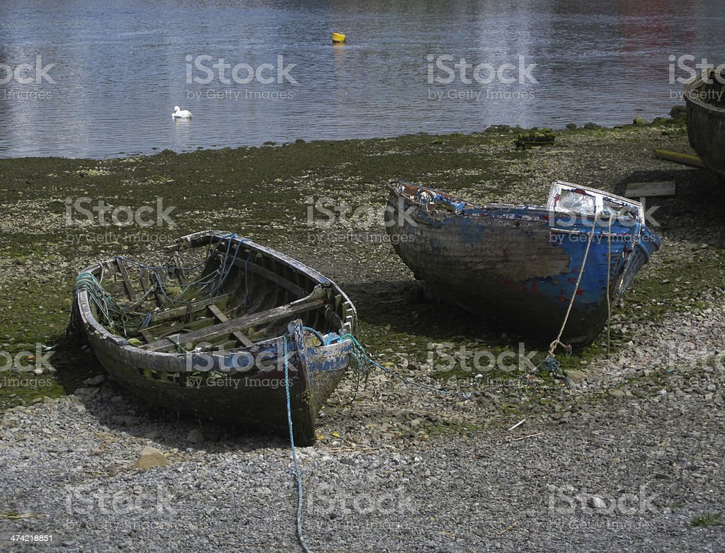Old Boats in Galway Bay royalty-free stock photo
