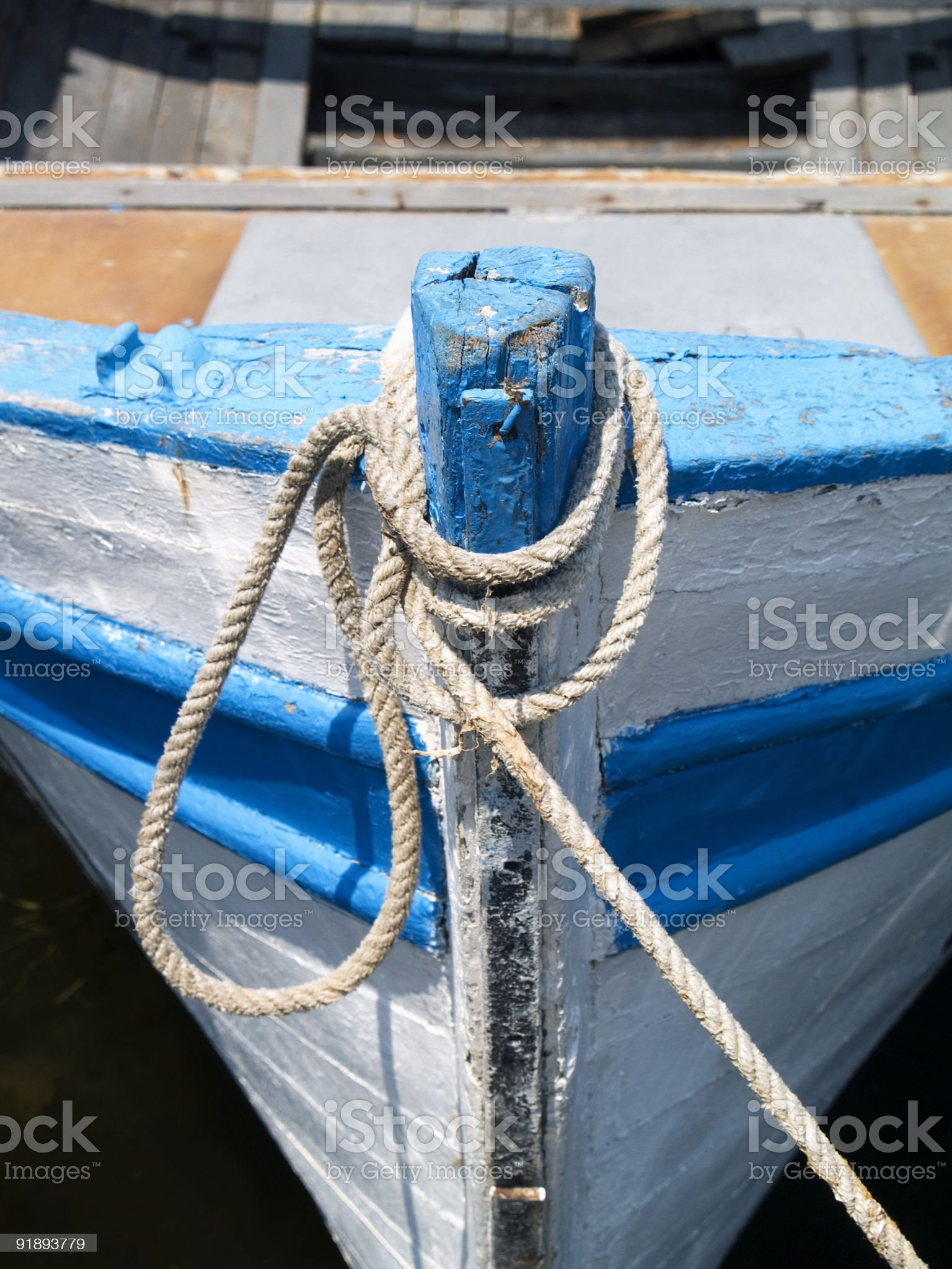 Old boat's nose royalty-free stock photo