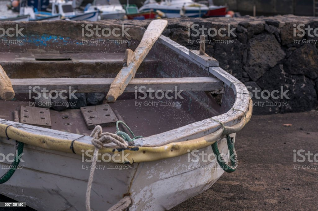 Old boats stock photo