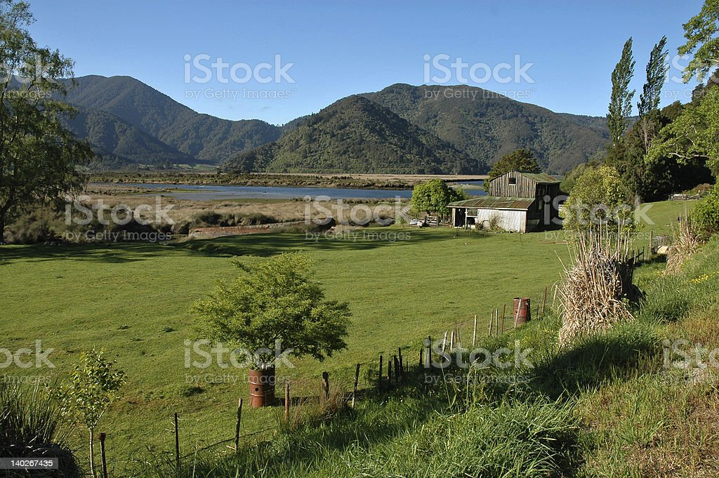 Old boatshed royalty-free stock photo