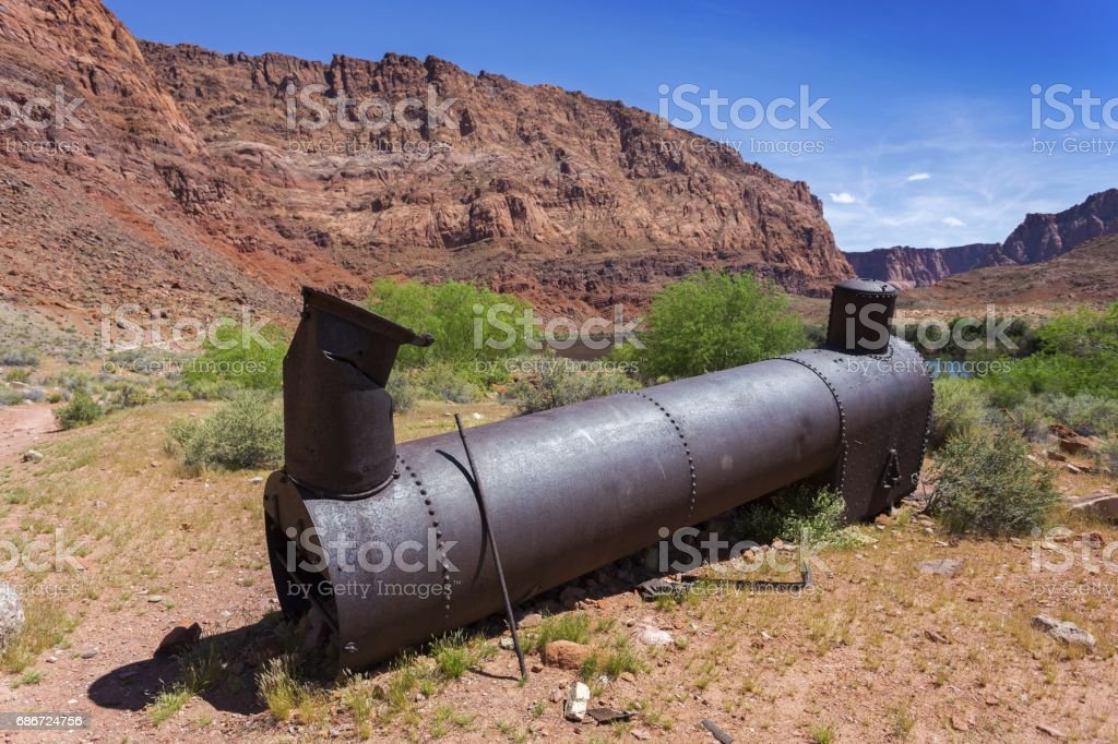 Old Boiler for Steamships from 1940 stock photo