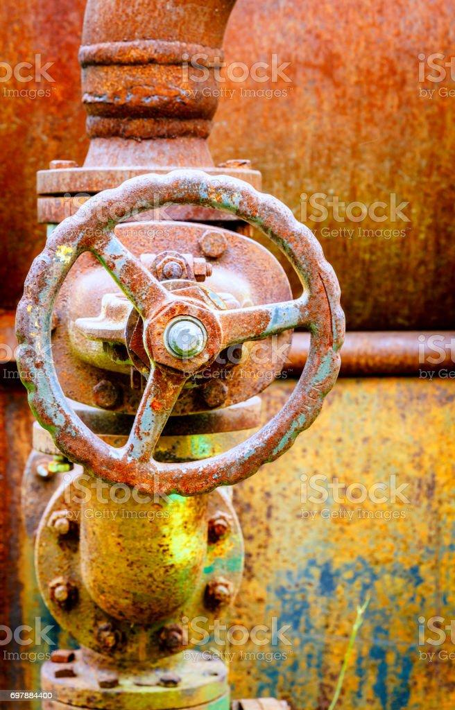 Old boiler stock photo