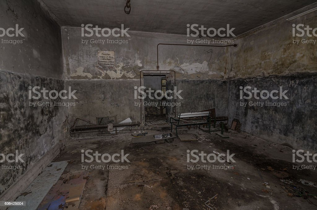 old boiler room stock photo