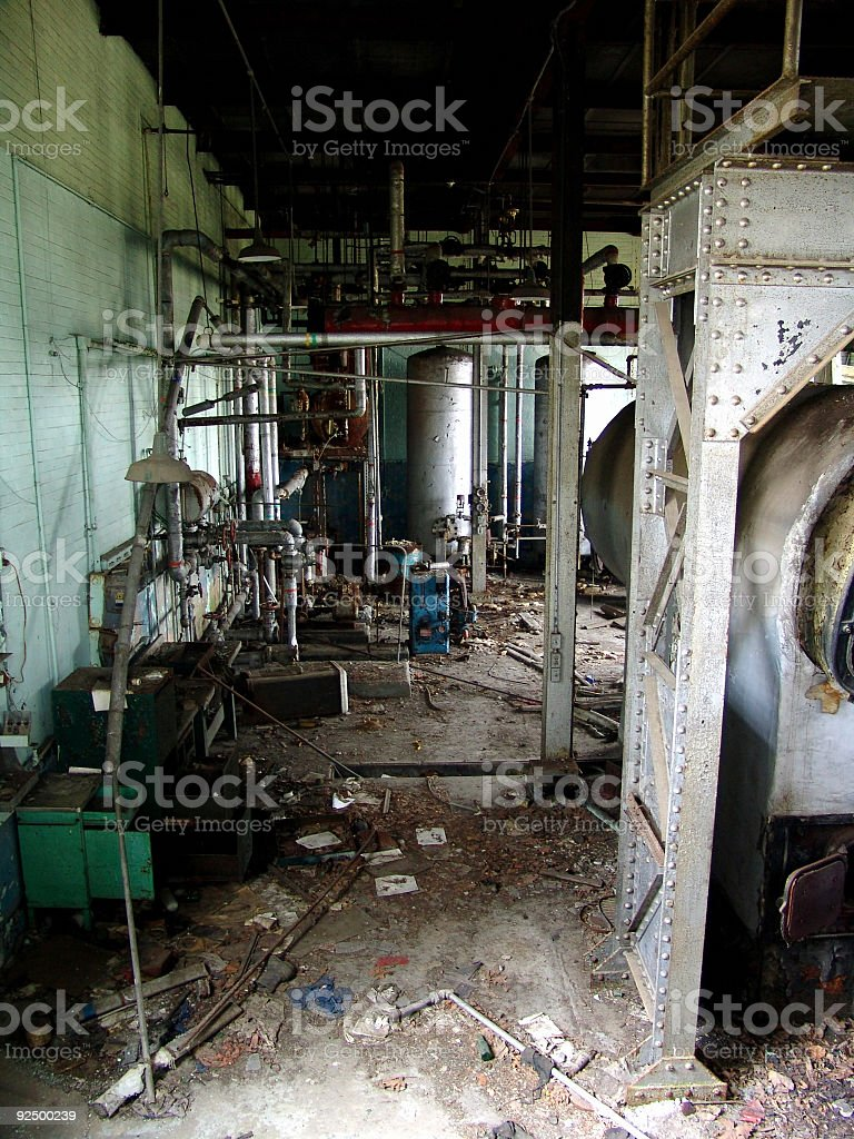 Old Boiler Room royalty-free stock photo