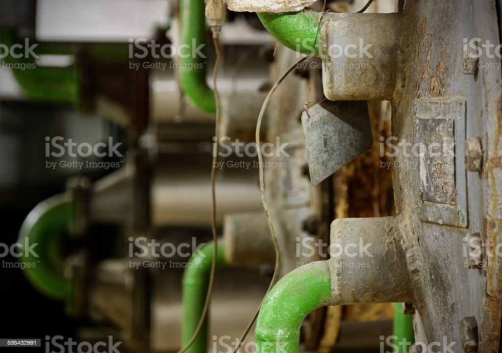 Old boilers stock photo