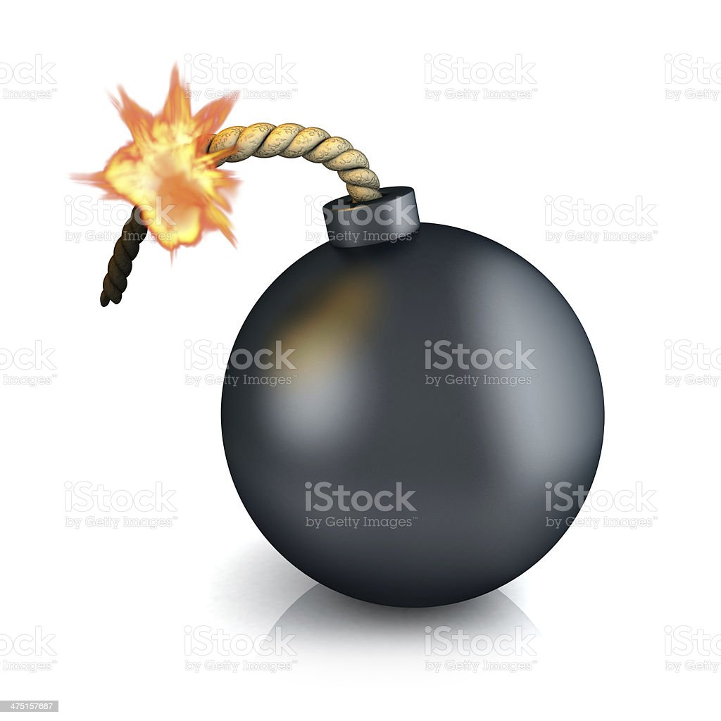 Old bomb stock photo