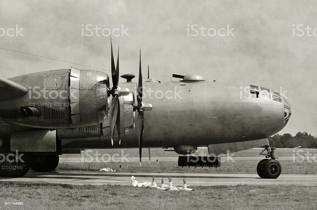 Old bomber nose stock photo