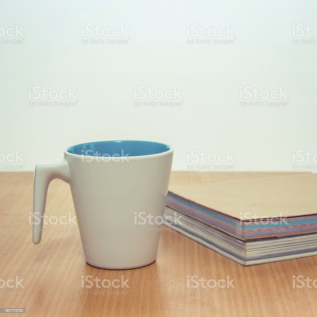 Old book and cup coffee royalty-free stock photo