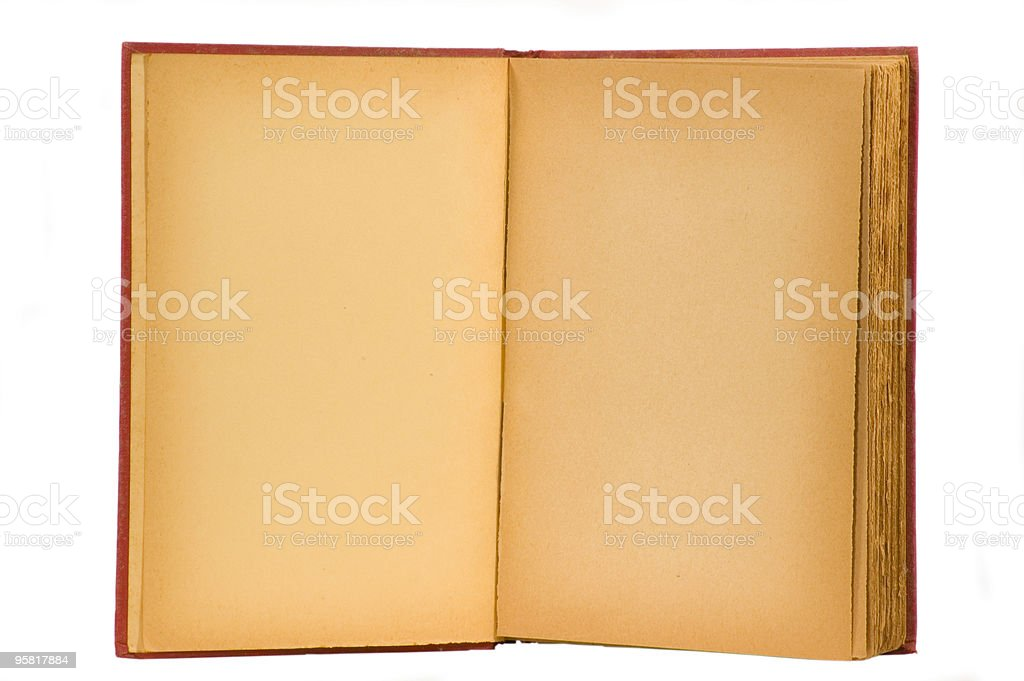 Old Book Blank Pages royalty-free stock photo