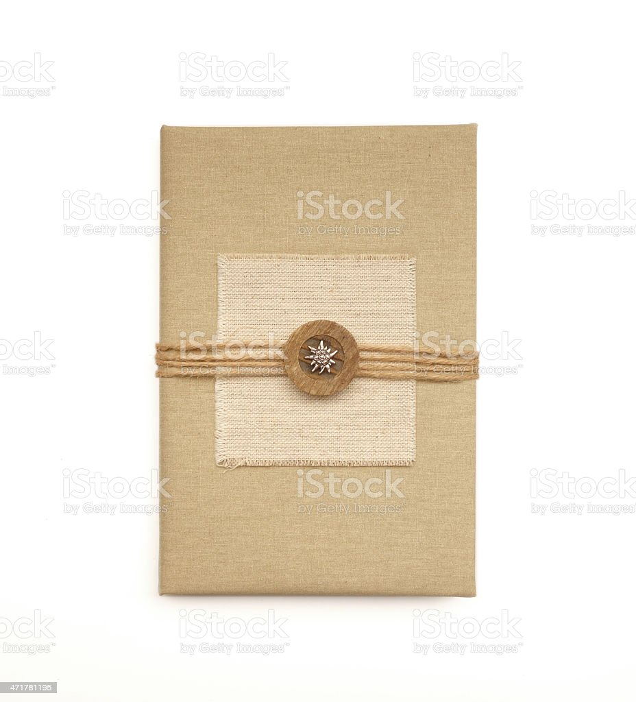 Old book cover design royalty-free stock photo