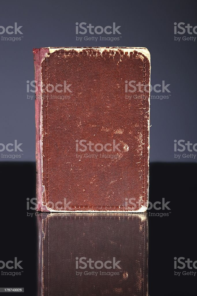 Old book cover, vintage object royalty-free stock photo