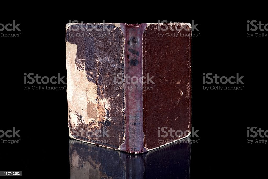 Old book cover, vintage texture, background royalty-free stock photo