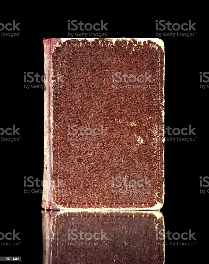 Old book cover, vintage texture reflected royalty-free stock photo