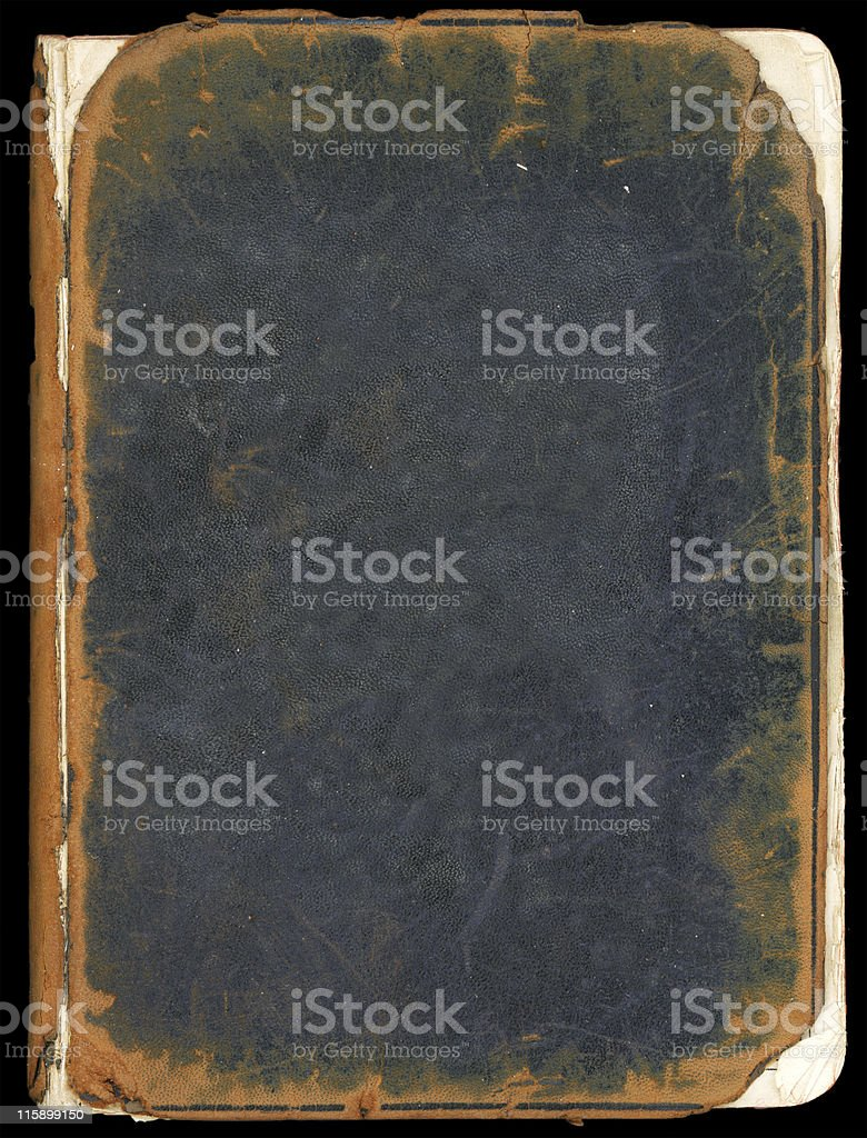 Old book front cover stock photo