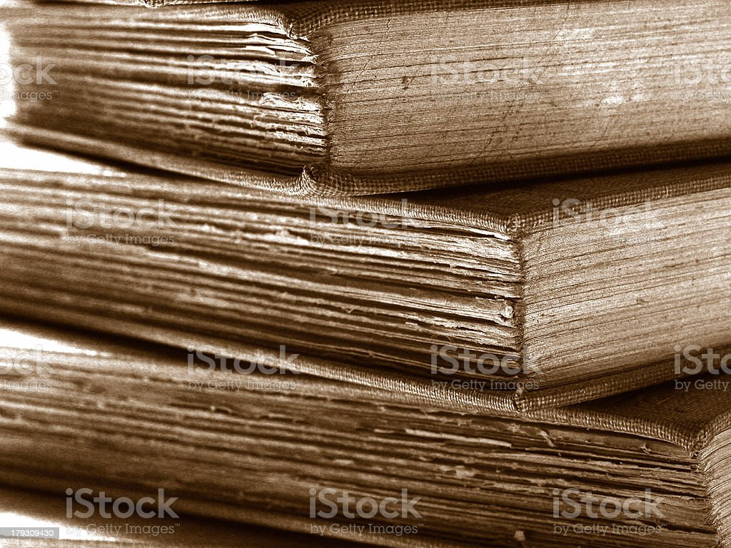 Old Book in a Pile royalty-free stock photo