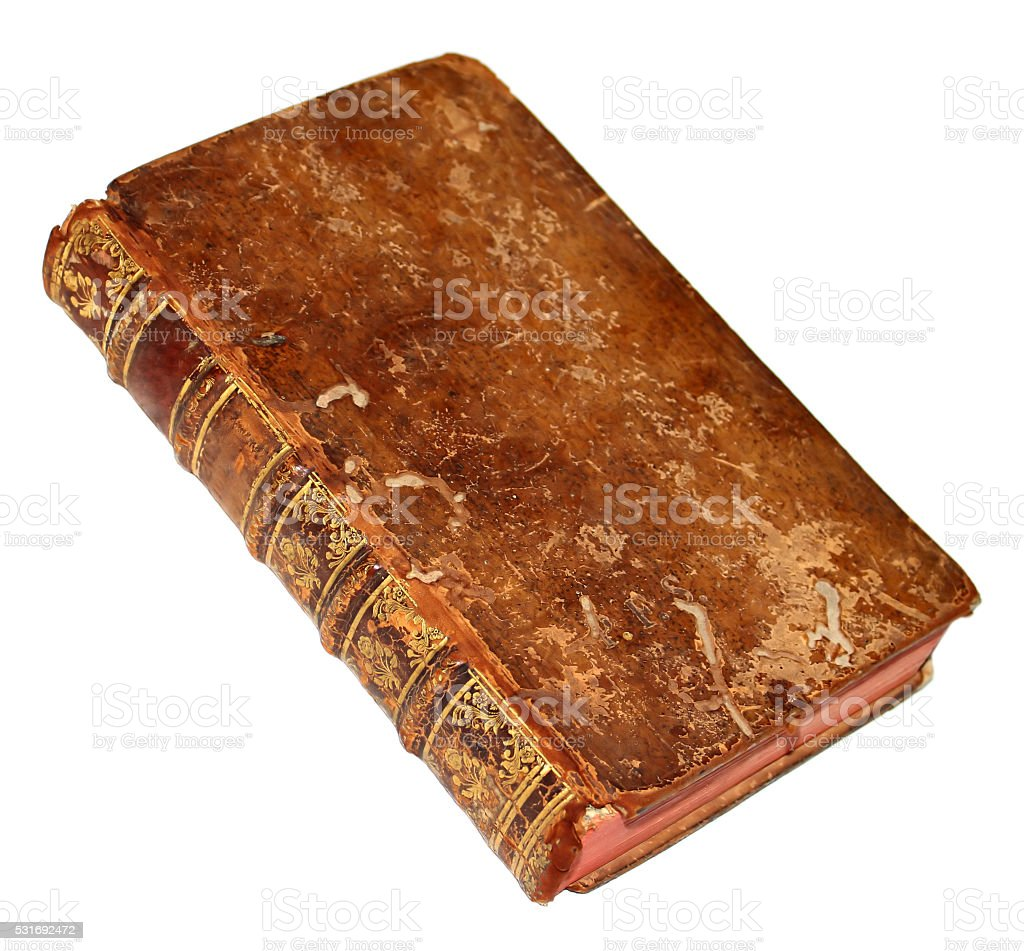 Old book isolated on a white stock photo