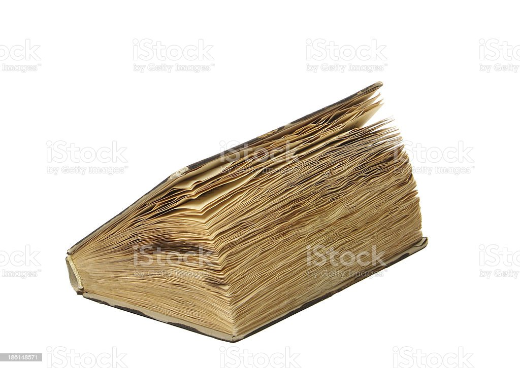 Old Book, Isolated royalty-free stock photo