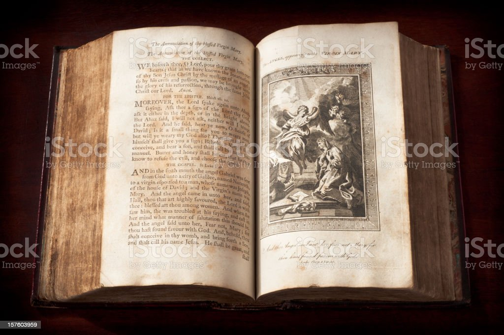 Old Book of Common Prayer (1792) royalty-free stock photo