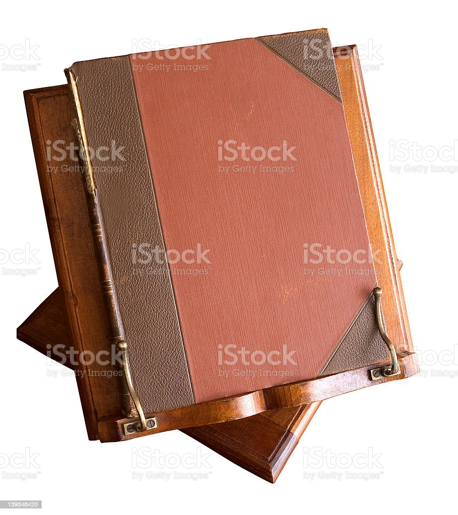 Old book on stand royalty-free stock photo