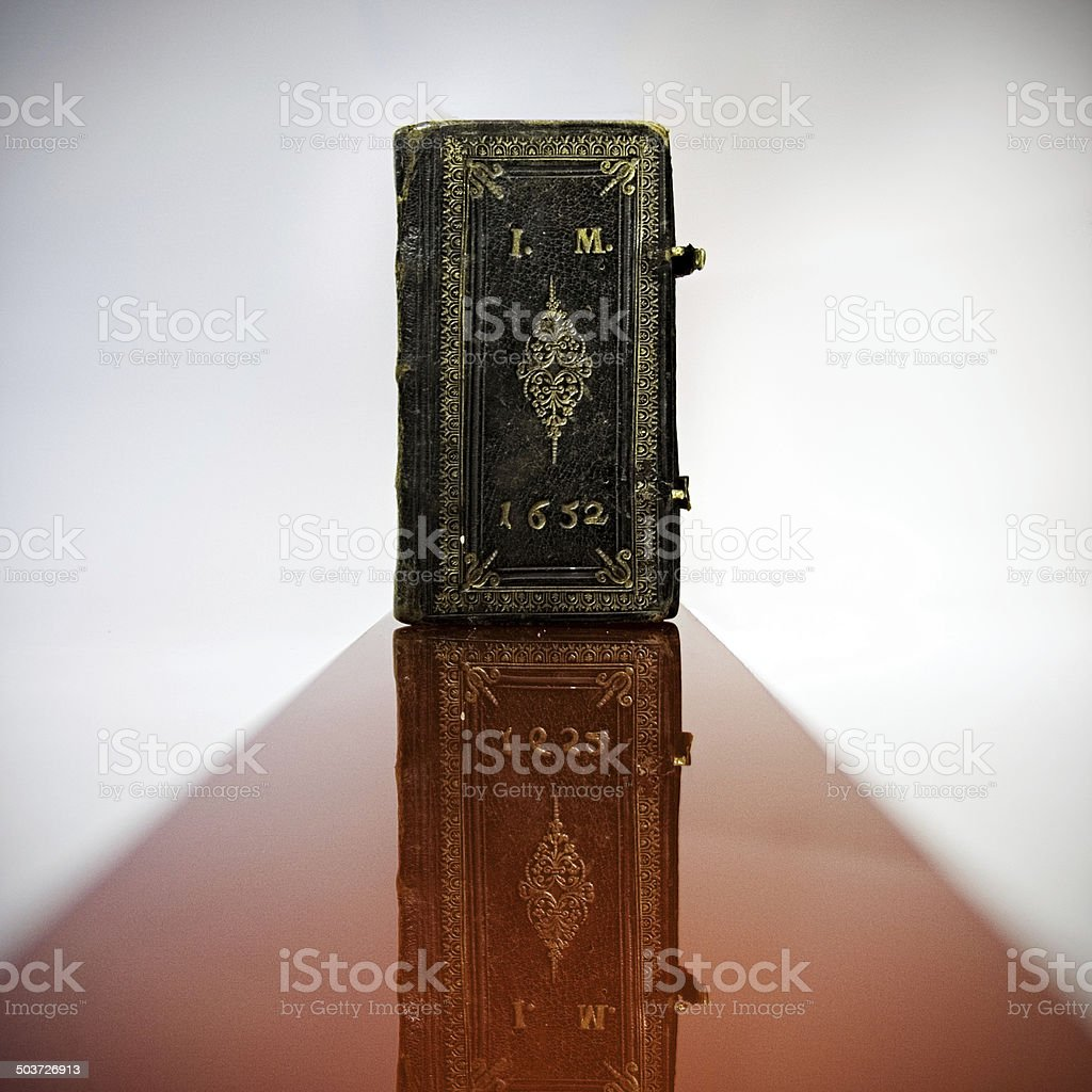 old book on the abstract background stock photo