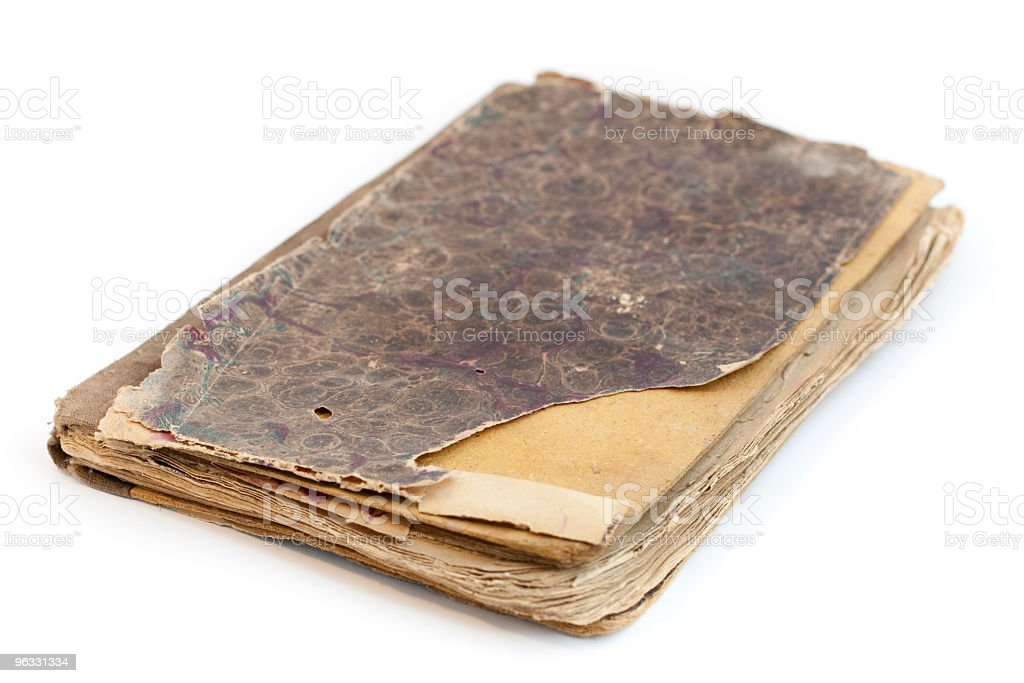 Old book on white background royalty-free stock photo