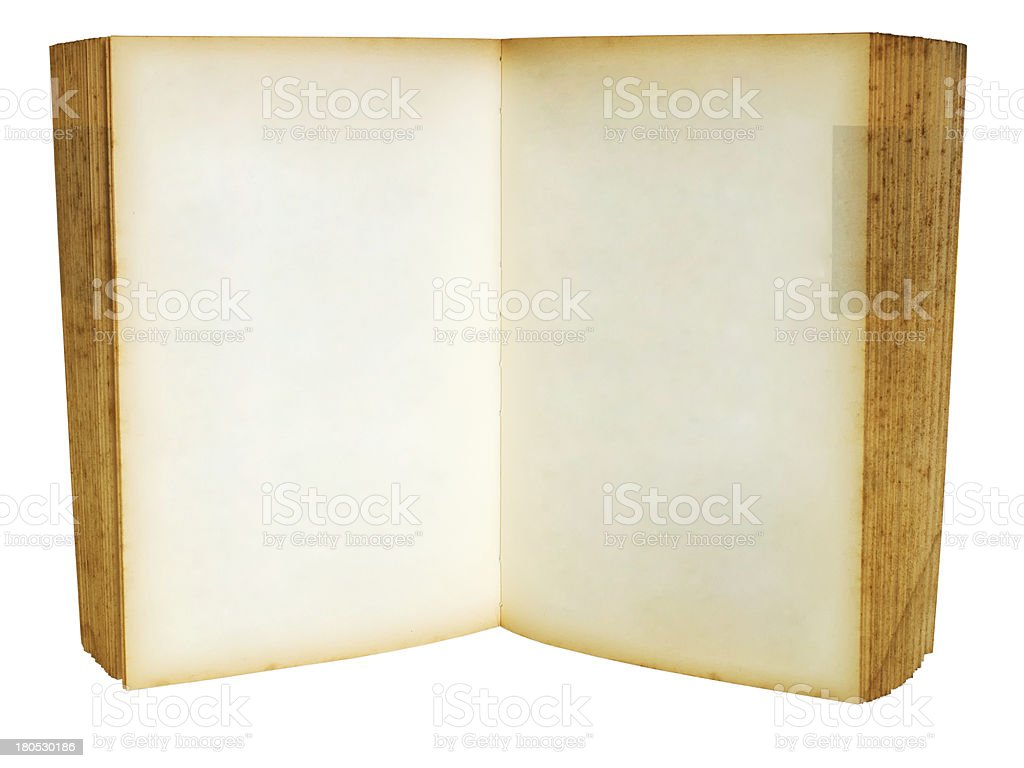 Old book Open royalty-free stock photo