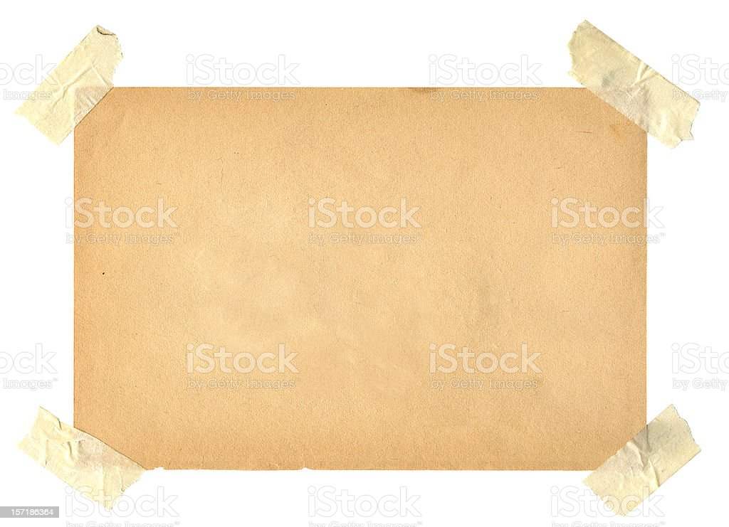 Old Book Page with Masking Tape royalty-free stock photo
