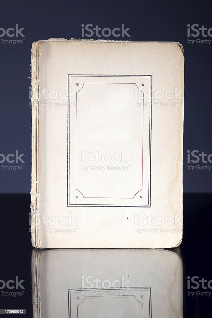 Old book page with vintage frame reflected royalty-free stock photo
