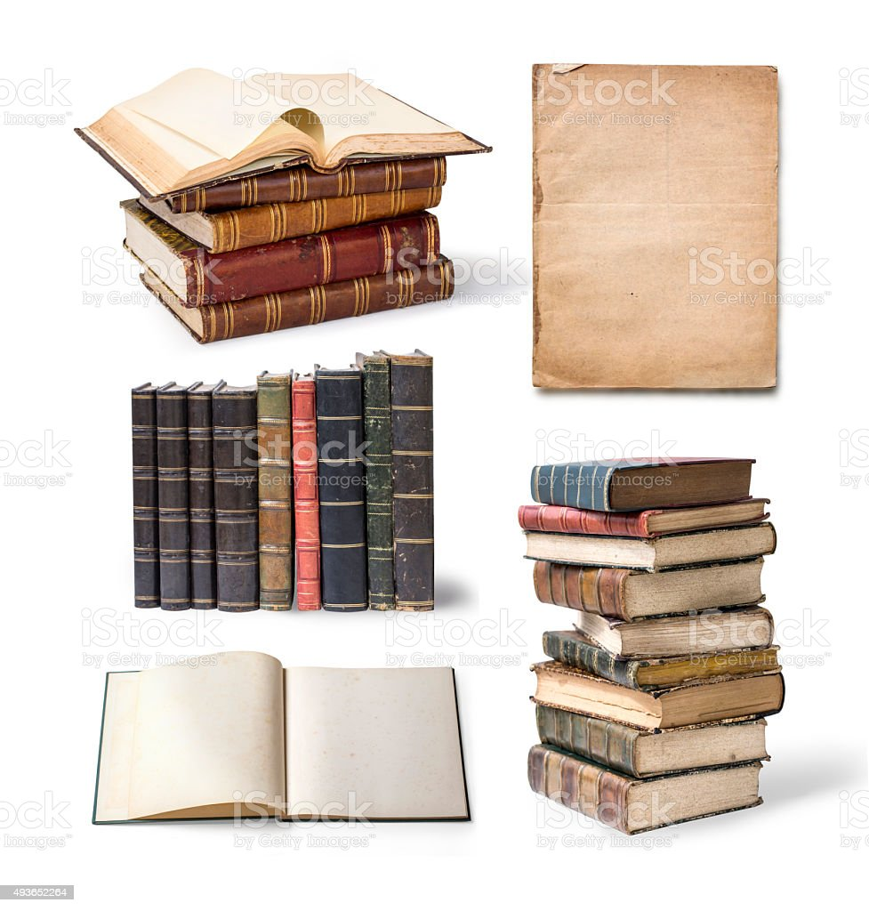 Old book pages stock photo