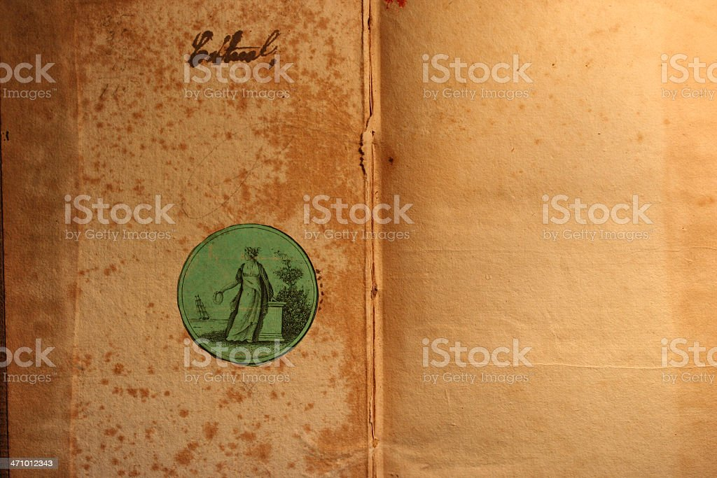 old book paper 1800's royalty-free stock photo