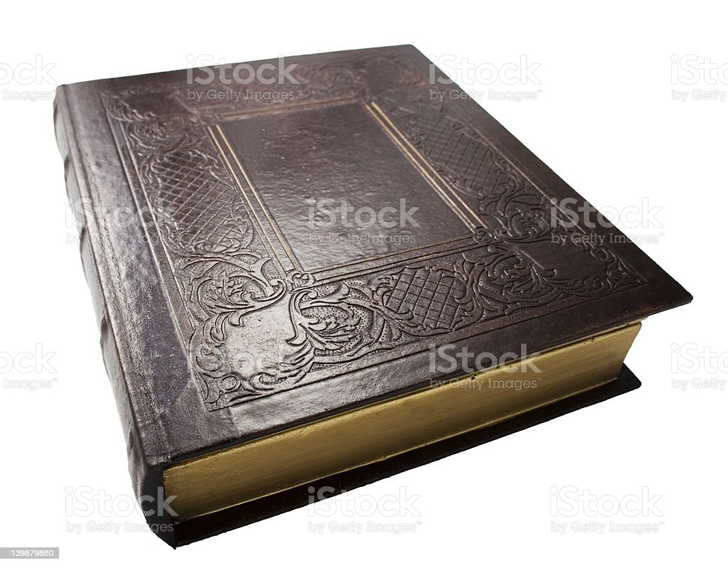 Old Book (with clipping path) royalty-free stock photo