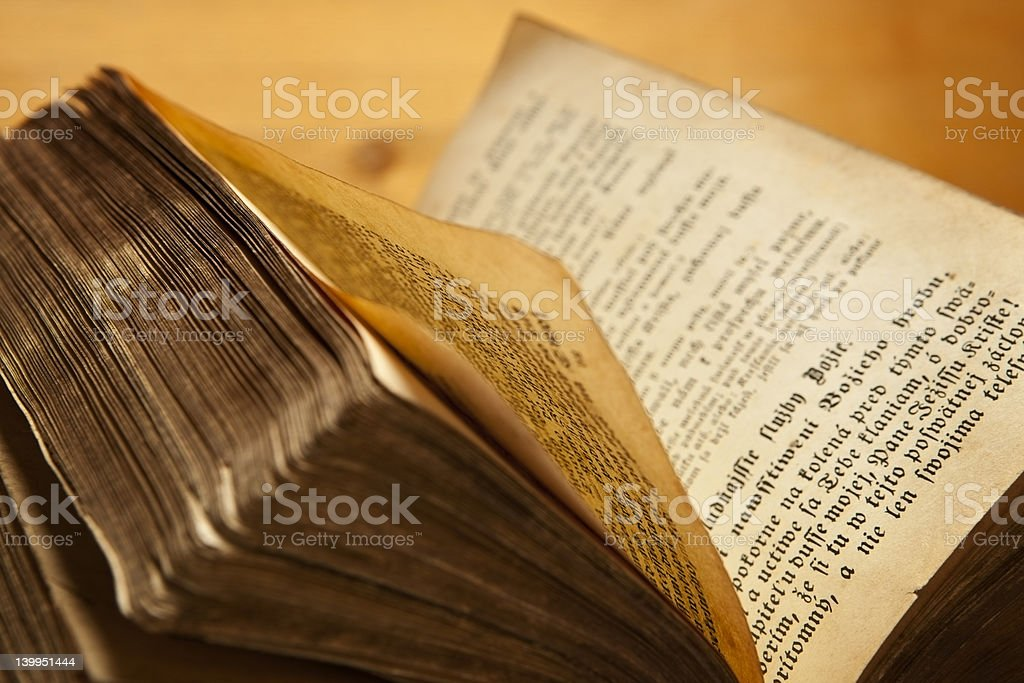 Old book. stock photo