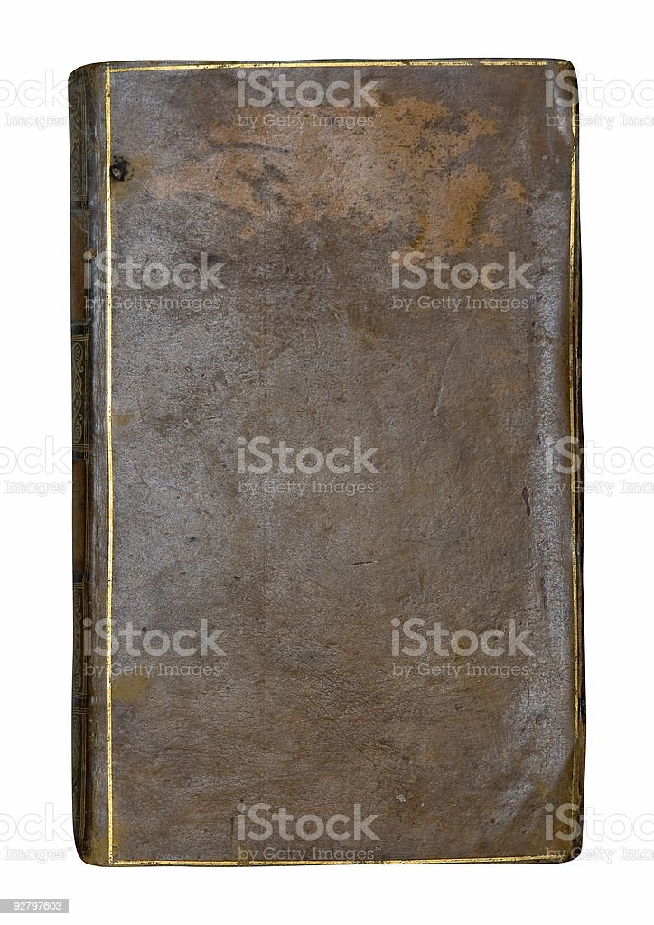 Old Book ( isolated ) stock photo
