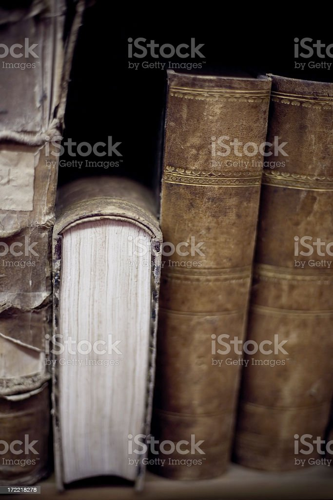 Old book side royalty-free stock photo