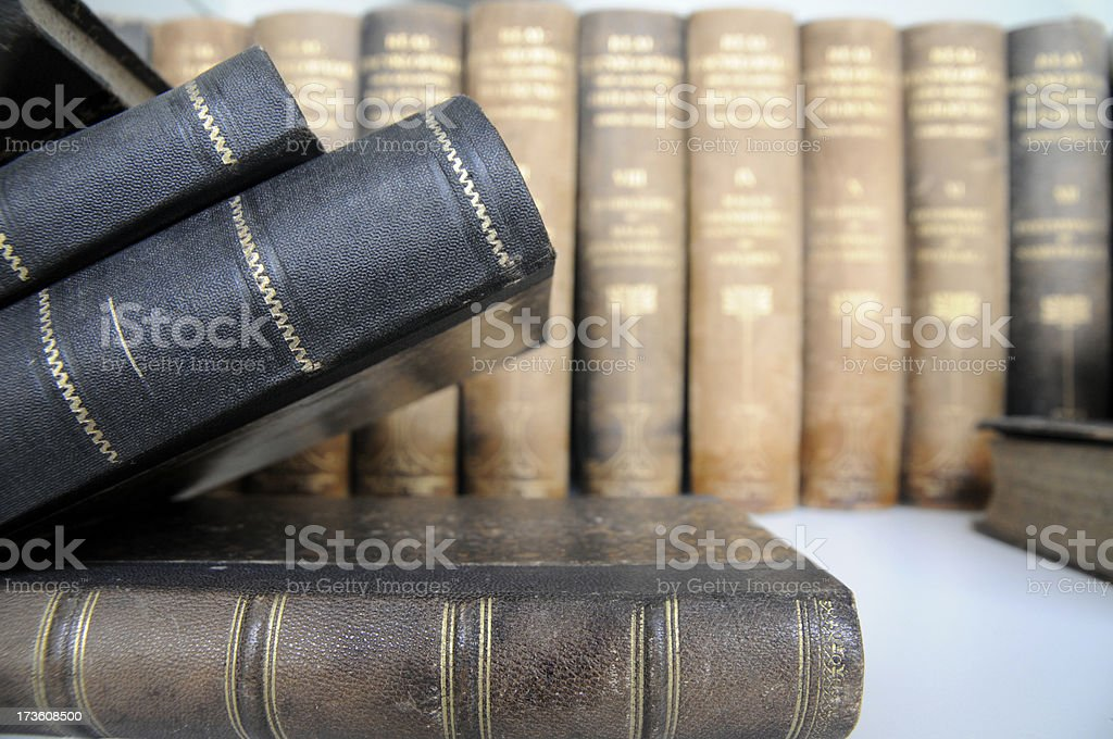 Old book spines royalty-free stock photo