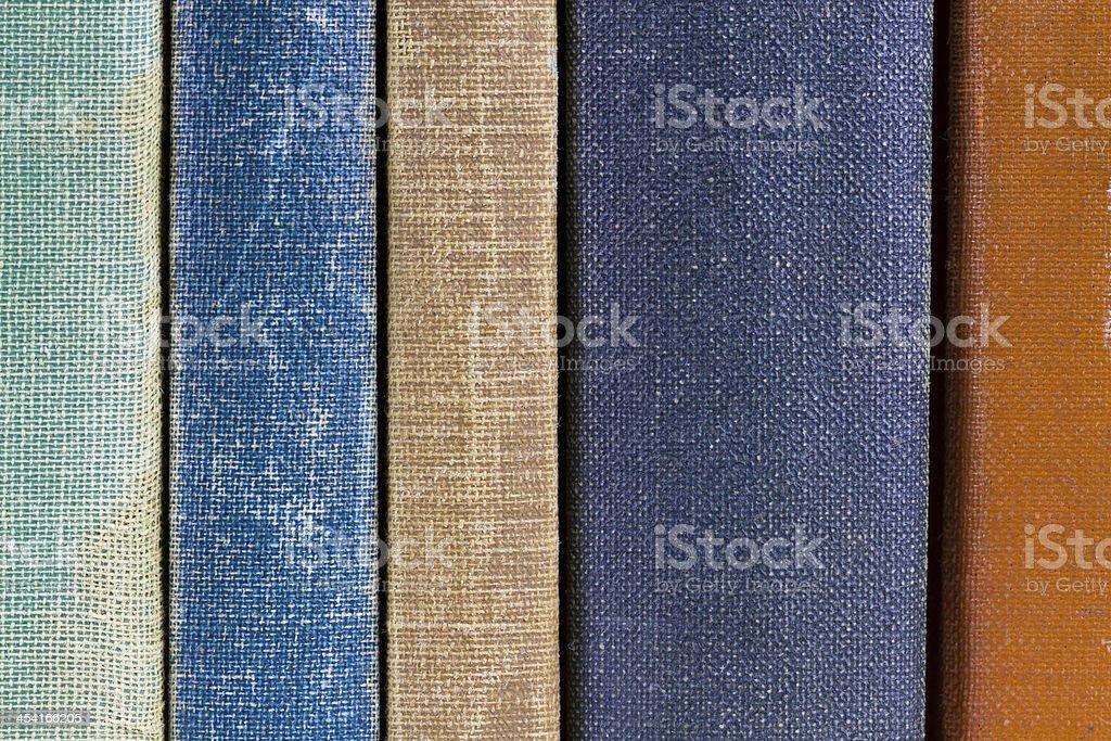 Vecchio libro spine dorsali foto stock royalty-free