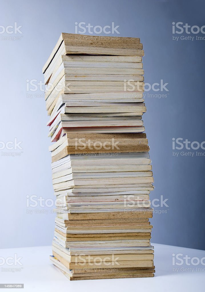 Old book stack royalty-free stock photo