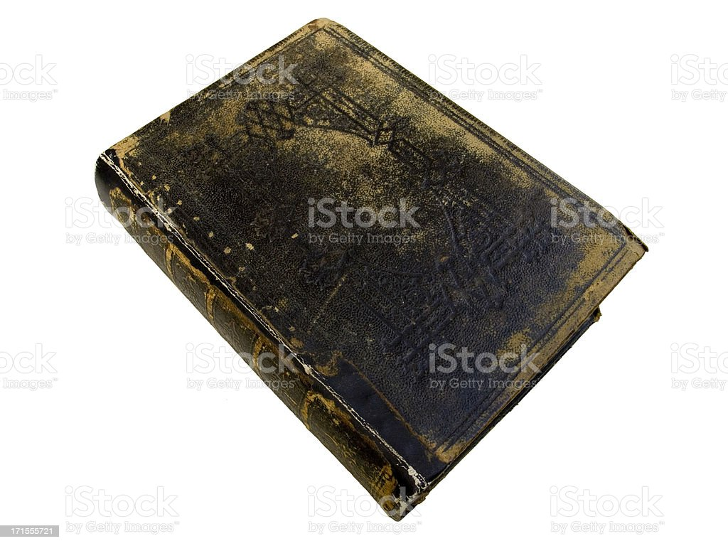 Old Book -  Top view stock photo