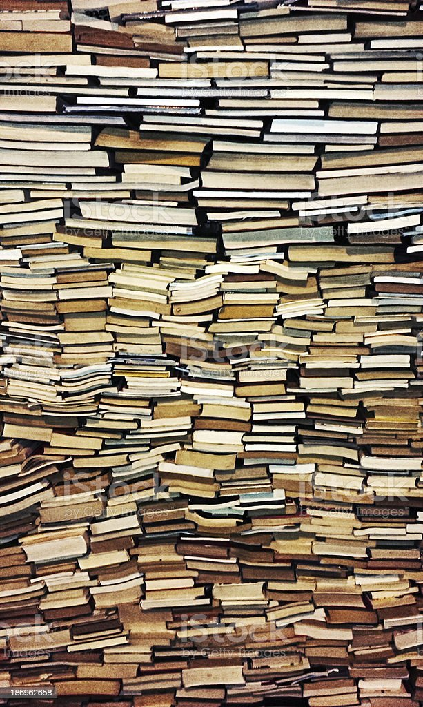 Old Book Wall stock photo