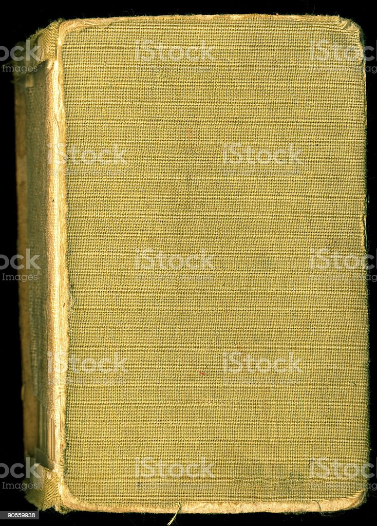 Old book with blank cover royalty-free stock photo