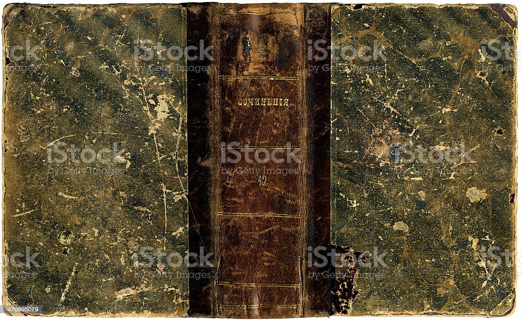 Old Bookcover stock photo