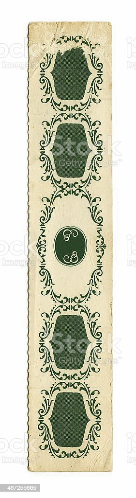 Old Bookmark (with clipping path) royalty-free stock photo