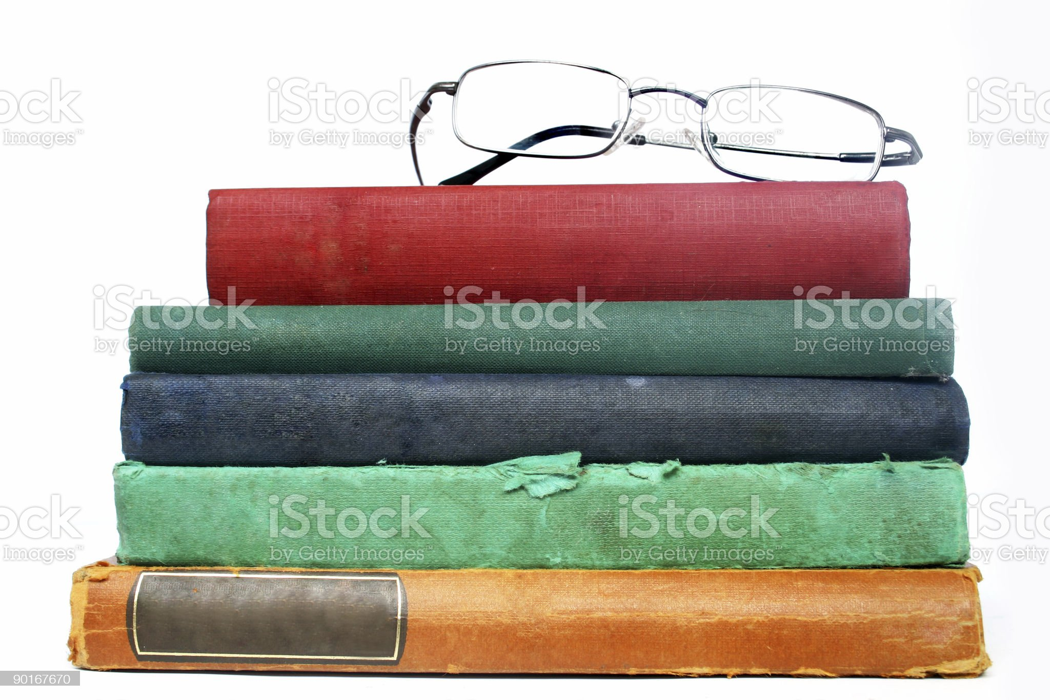 Old Books and Glasses royalty-free stock photo