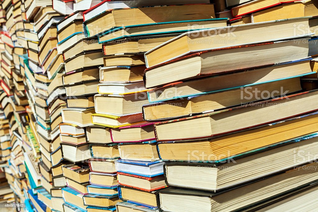 old books background stock photo
