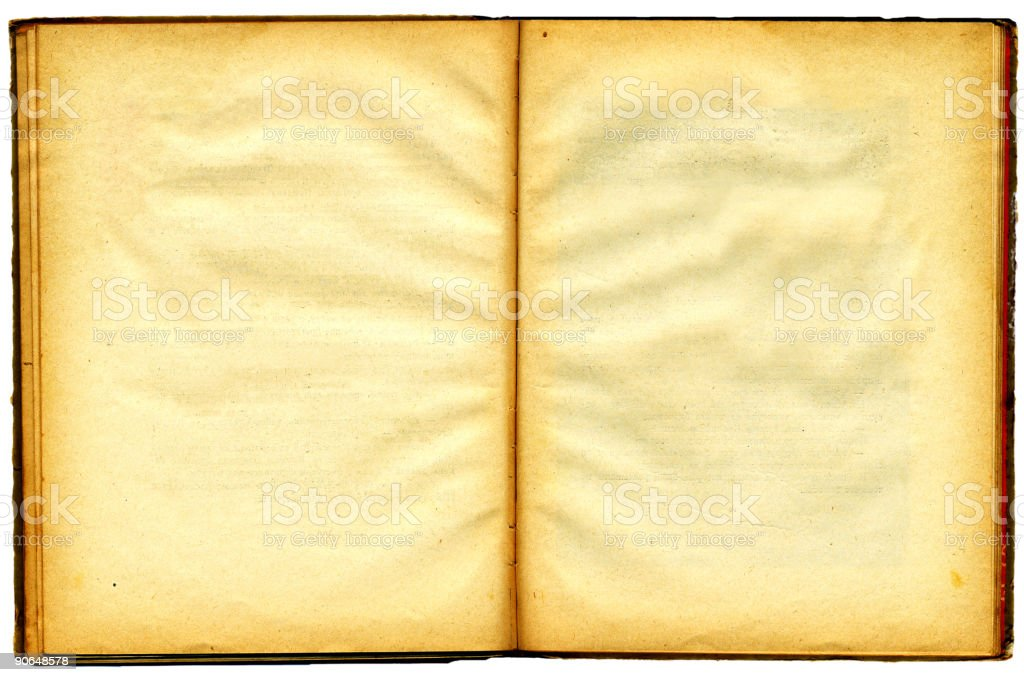 Old book`s broadside with blank shabby pages. BIG royalty-free stock photo