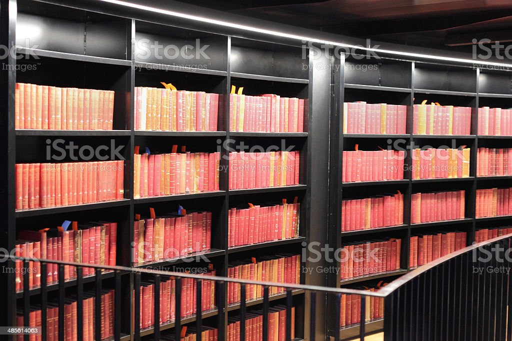 Old Books In A Modern Library. royalty-free stock photo