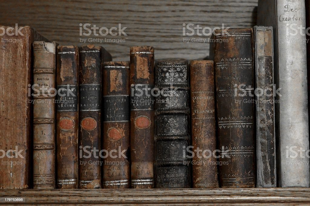 old books in a row royalty-free stock photo