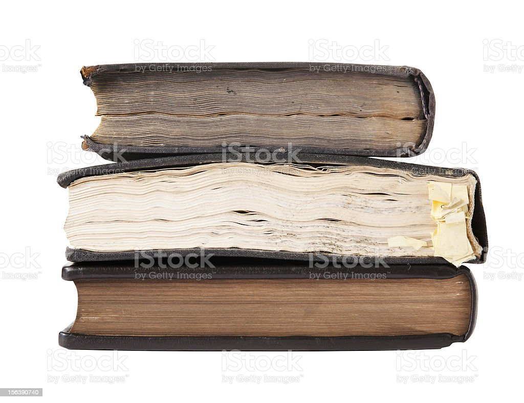 Old books, isolated on white royalty-free stock photo