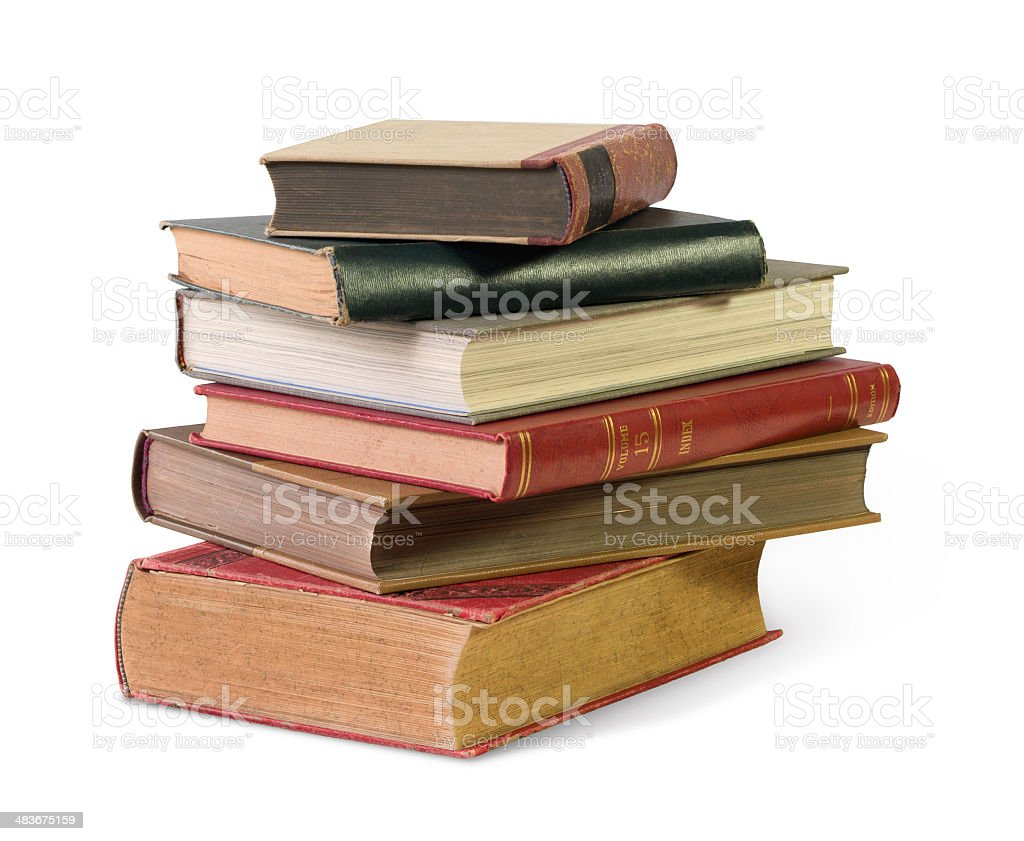 old books isolated royalty-free stock photo
