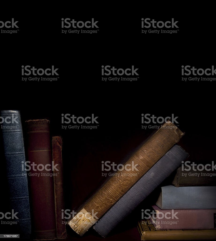 old books on a shelf royalty-free stock photo